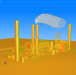 CFD simulation of carbon-dioxide release of a chemical factory