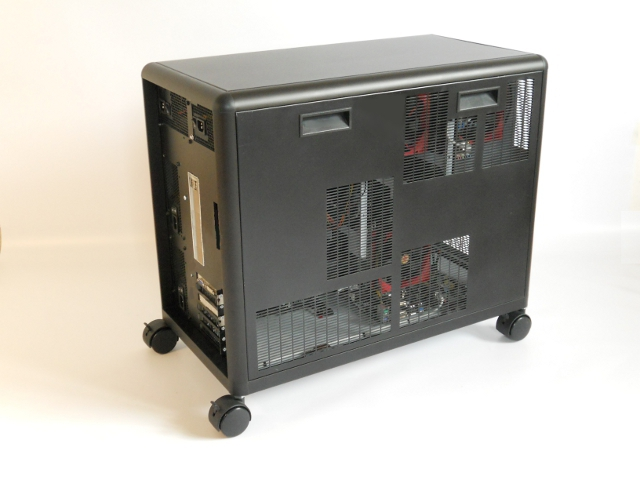 Dexter personal supercomputer fan side view
